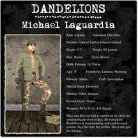 Dandelions Character Card -- Mike