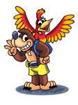 Banjo-Kazooie in Mario and Luigi RPG Style