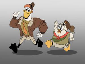Launchpad McQuack and Doofus Drake