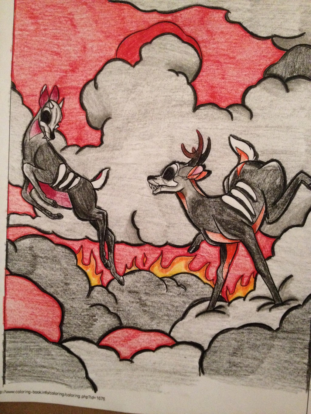 Hell Stag Coloring Book Corruption By Mmm Brainss