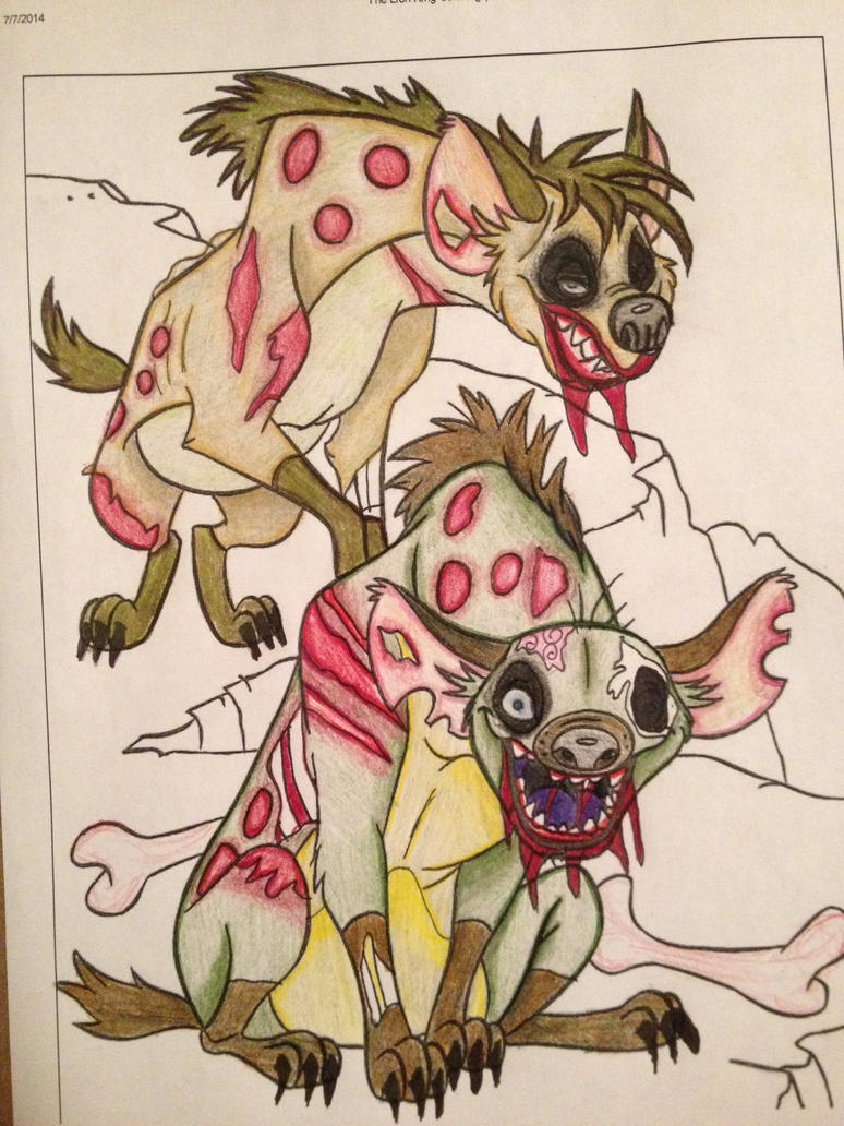 Undead Hyenas Coloring Book Corruption By Mmm Brainss