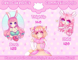 ( OPEN ) Commission Info! - Need $500 for Rent! by NekoCakeArt