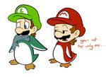 Penguin Mario and luigi