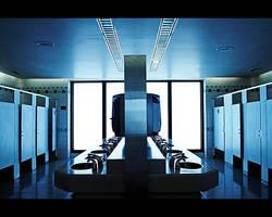 Bathroom Blues by lorrainemd