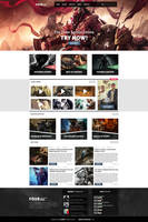 FOURBOX - Gaming site design by axds