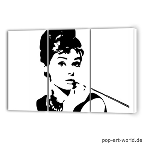 Audrey Hepburn Pop Art Leinwand By Pop Art World On Deviantart