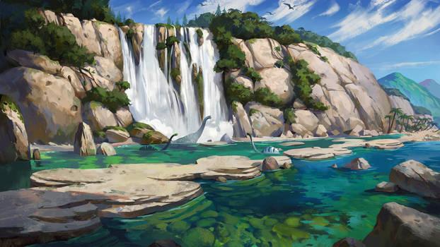 Dino Waterfall