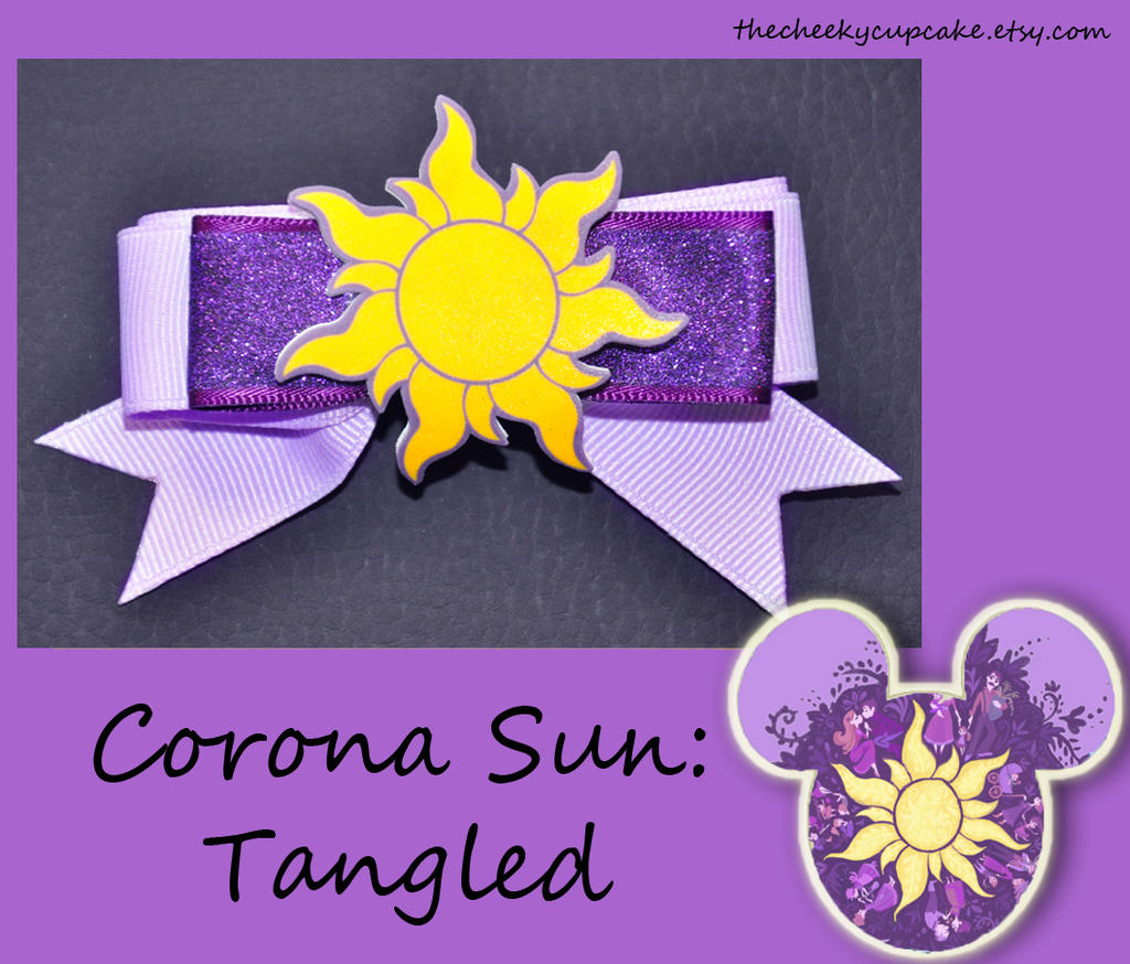 Corona Sun Hair Bow Tangled By Thecheekycupcake On Deviantart