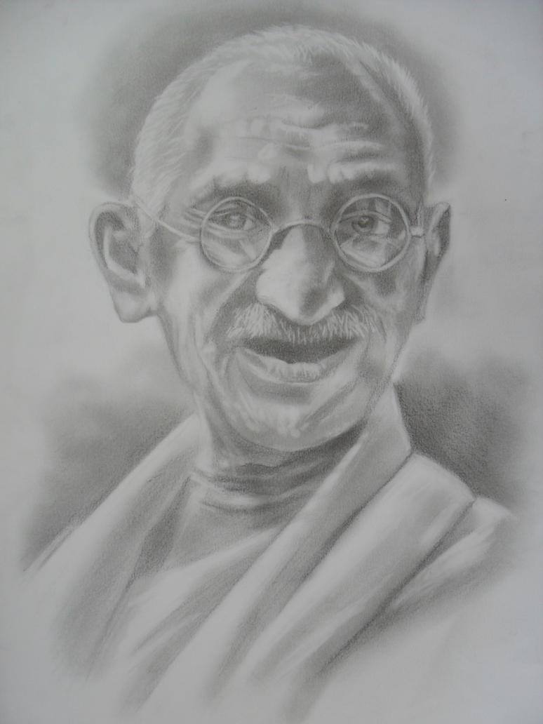 Mahatma Gandhi by TERRIBLEart