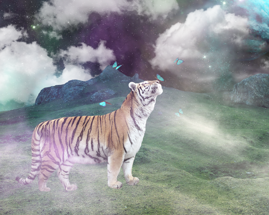 Tiger Photo Manipulation by kyra018