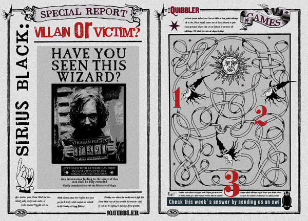 Quibbler Page Sirius Black Villain or Victim by jhadha on ...Quibbler Printable Pages
