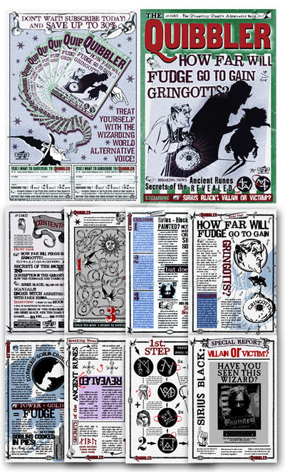 Quibbler How Far Will Fudge go to gain gringotts by ...Quibbler Printable Pages
