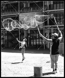 Bubble Man -black and white- by Emily-Pictures