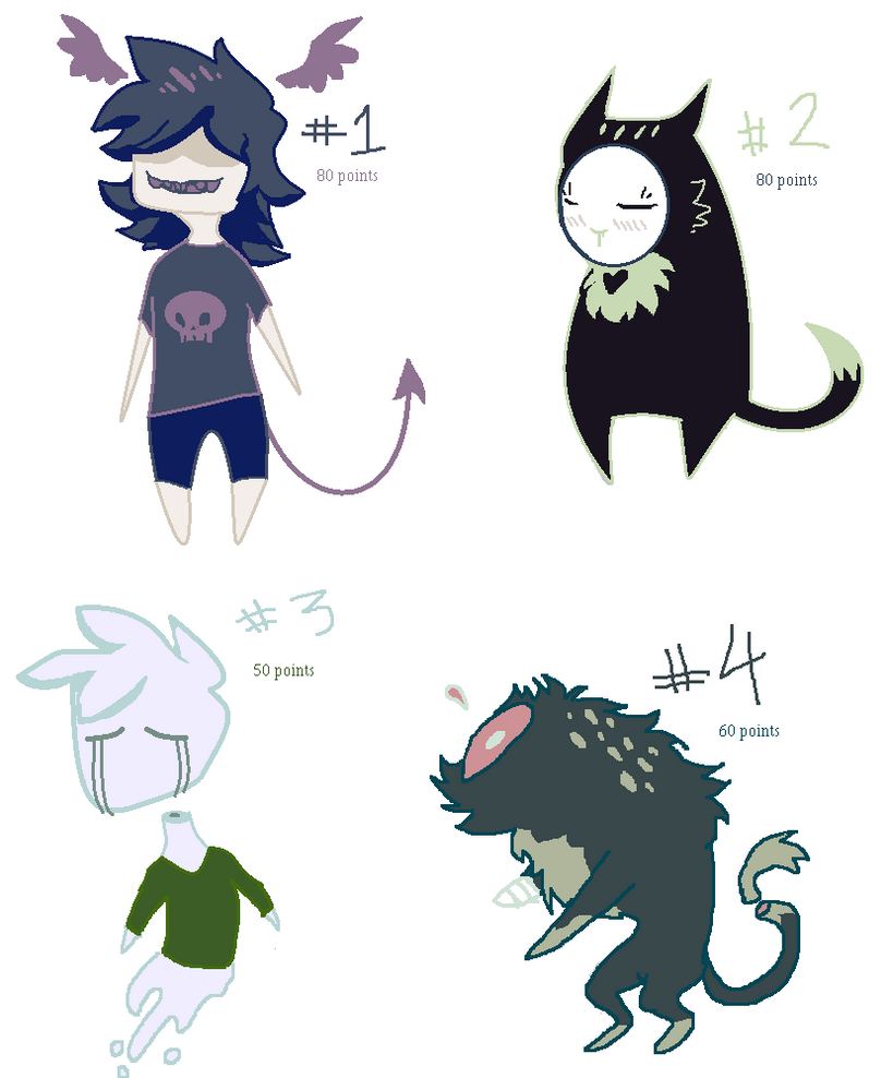Adoptable batch of ancient Spoopy pals by parenthesisgrey