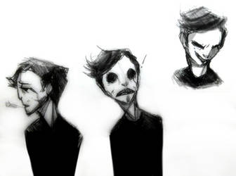 Various White Face doodles by parenthesisgrey