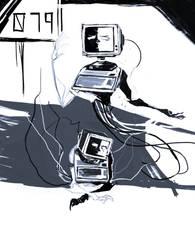 SCP 079 doodles
