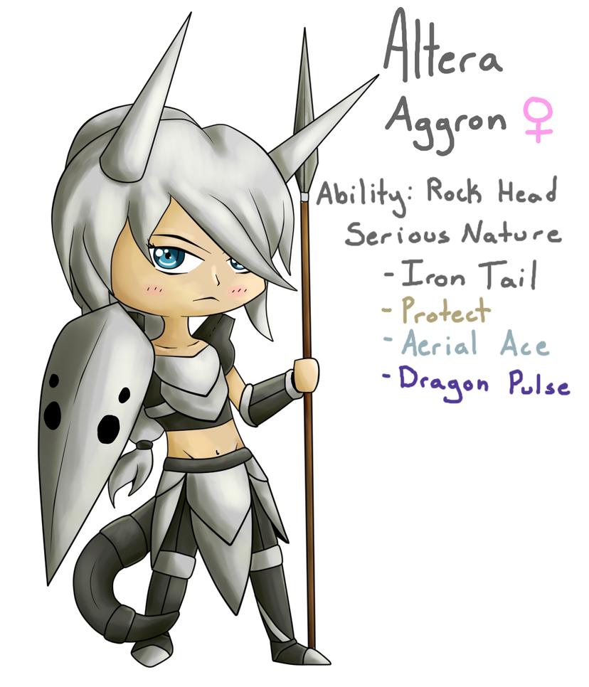 Altera - Aggron Gijinka Chibi by 5-Tails on DeviantArt