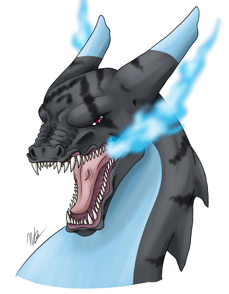 Kaze - Mega Charizard X by 5-Tails