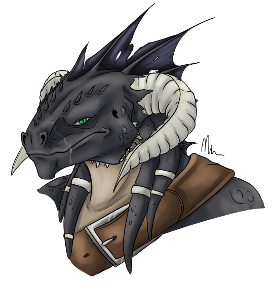 Izzoris - Dragonborn Fighter by 5-Tails