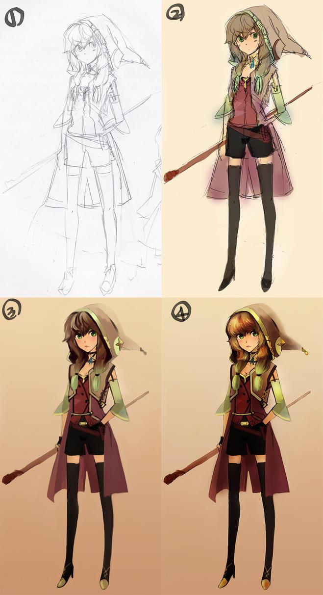 Character Design Painting Tutorial : Original character tutorial by brtgm on deviantart