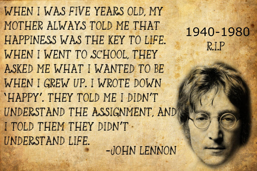 John Lennon Quote By TedManiac