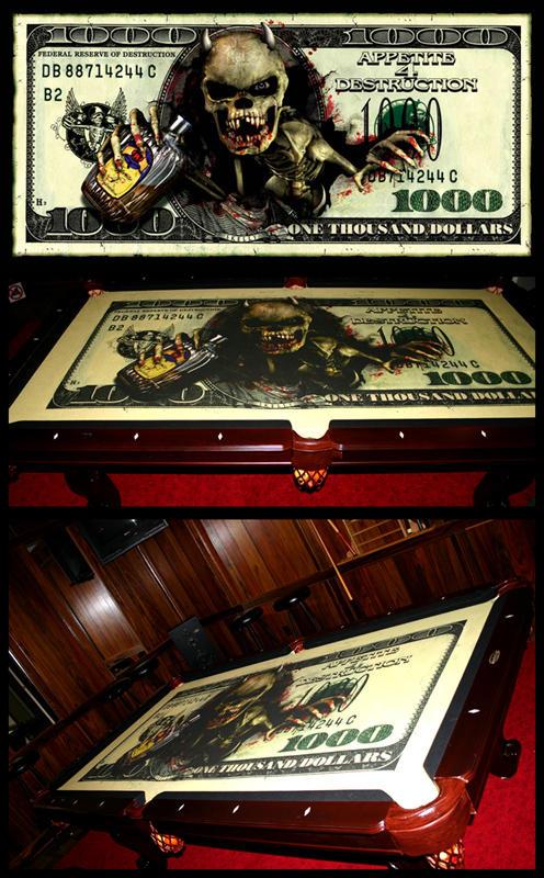 Pool Table CUSTOM Printed By FlossHogg ...