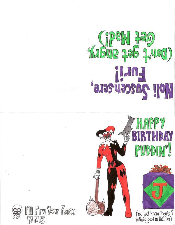 Harley birthday card by midnightmadwoman on deviantart