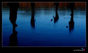 footsteps on ice