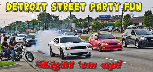 Detroit Street Party Fun - Telegraph Cruise 1