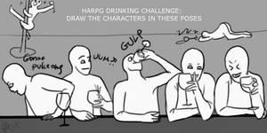 DRAW THE DRUNK SQUAD CHALLENGE: HARPG EDITION by DarkAngelLoveNight