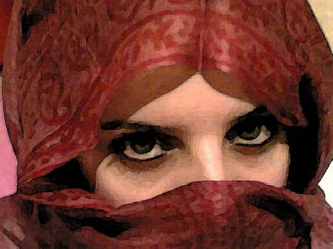 into the eyes of an arab