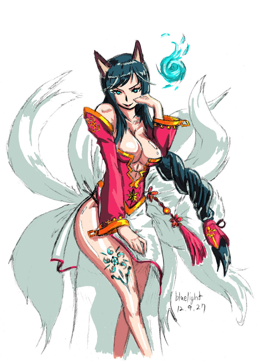 lol ahri lol by bluelightt