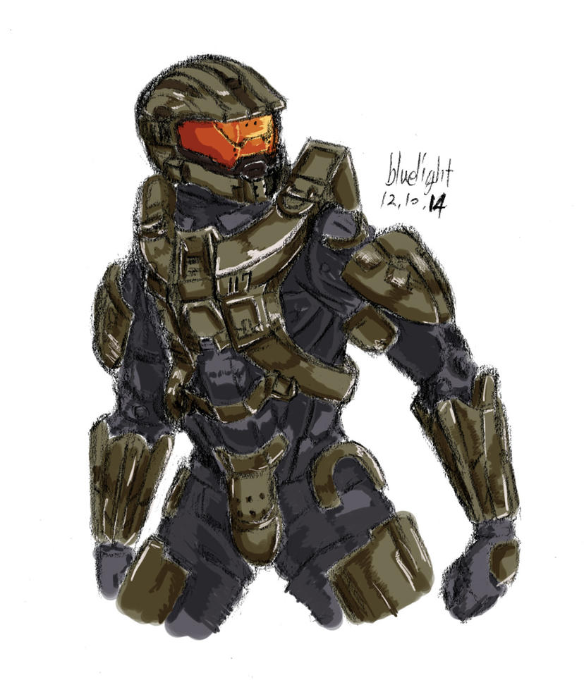 halo4 Master Chief by bluelightt