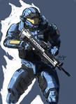 MJOLNIR commando armor color