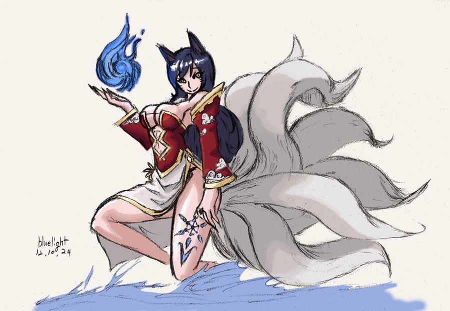 lol ahri lol 2 color by bluelightt