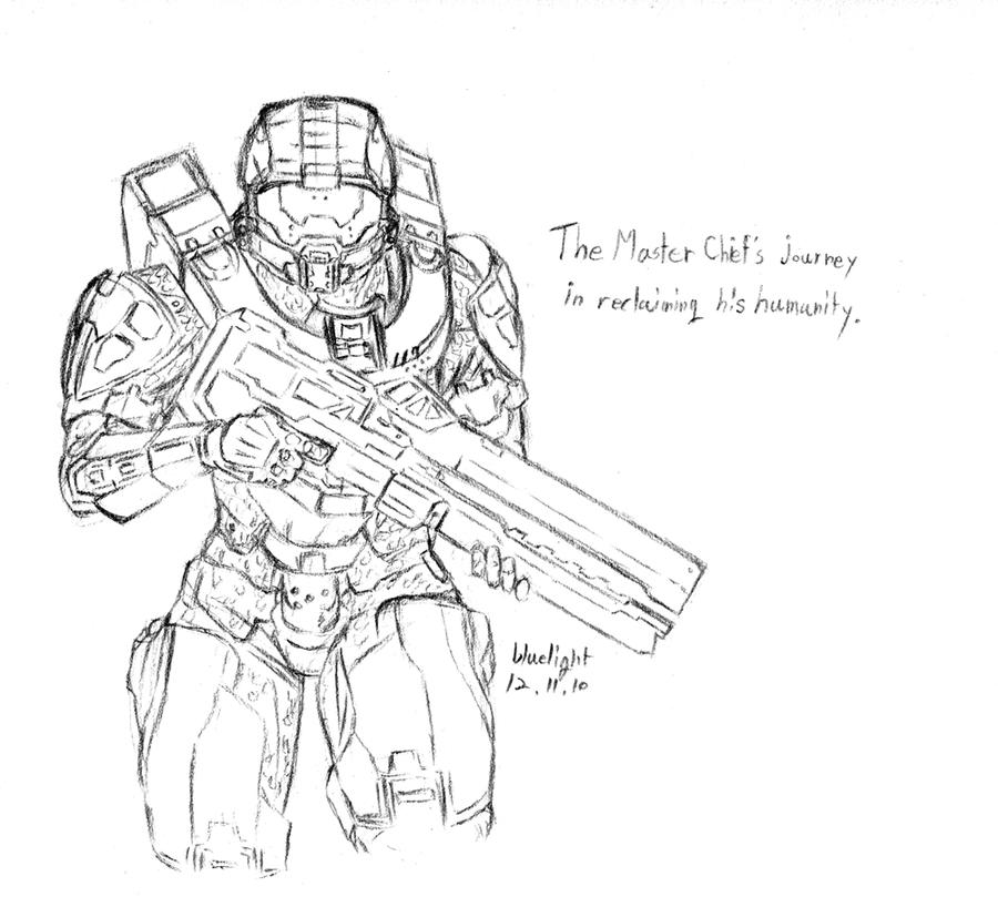 Halo 4 Coloring Pictures Halo4 Master Chief By Bluelightt On DeviantArt