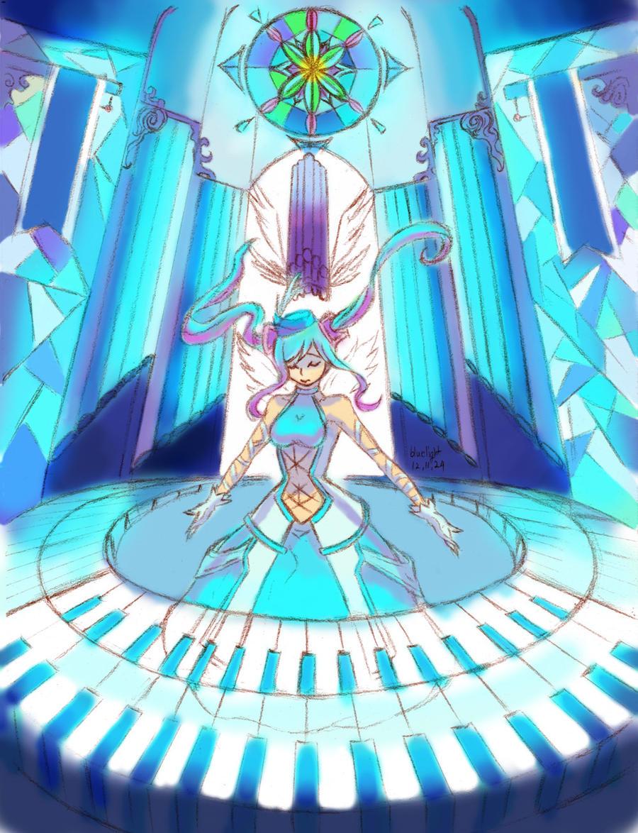 LoL Sona Requiem skin by bluelightt