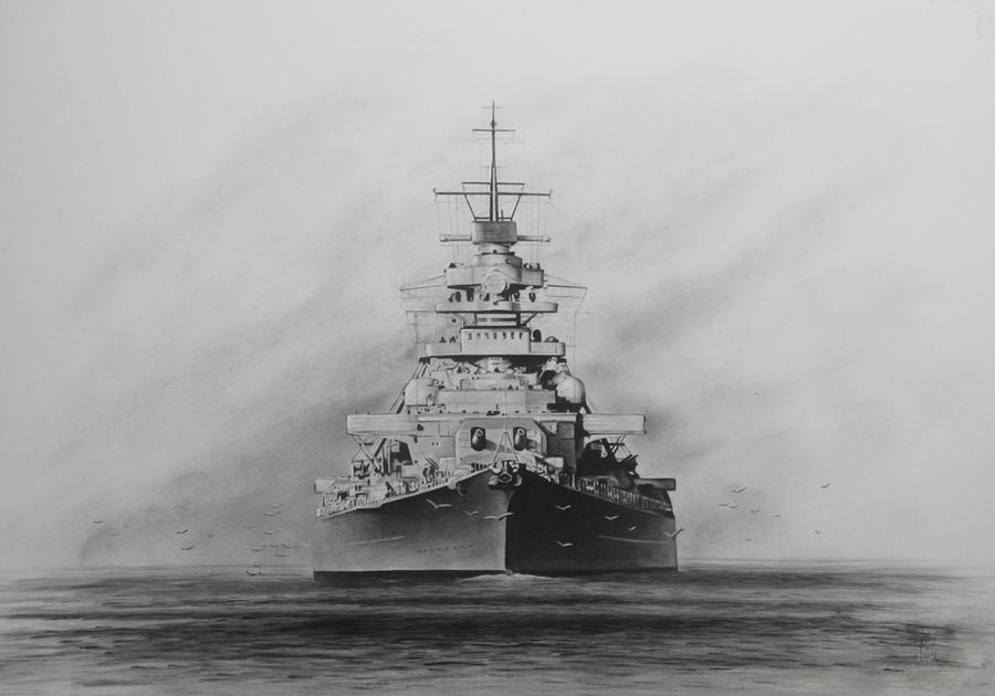 Battleship Bismarck by RainerKalwitz