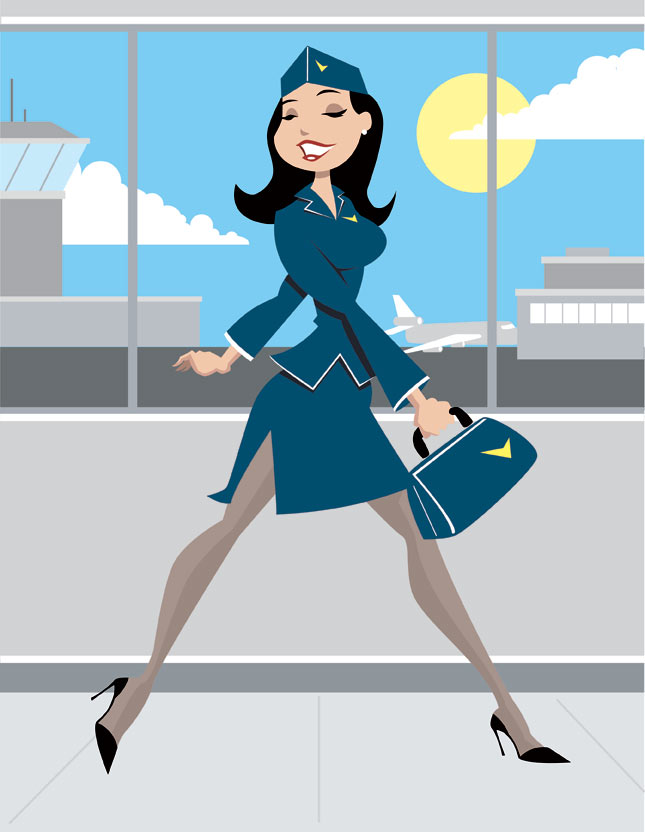 Retro Stewardess by calslayton