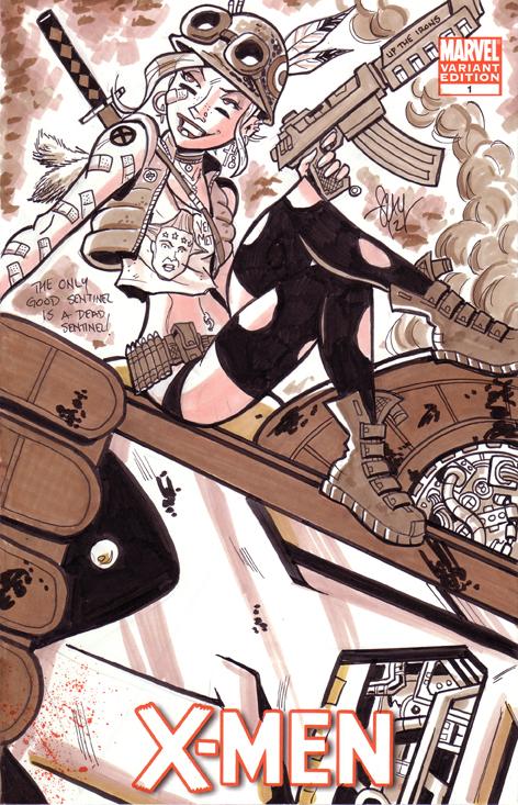 Tank Girl - X-Men Mash Up by calslayton