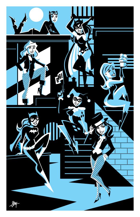 Gotham Girls Print by calslayton