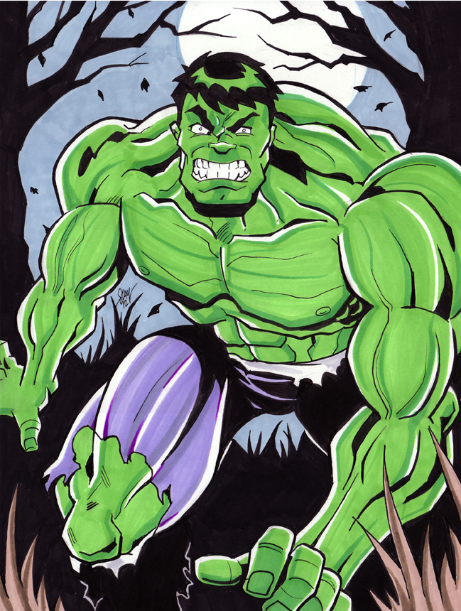 Incredible Hulk Commission by calslayton