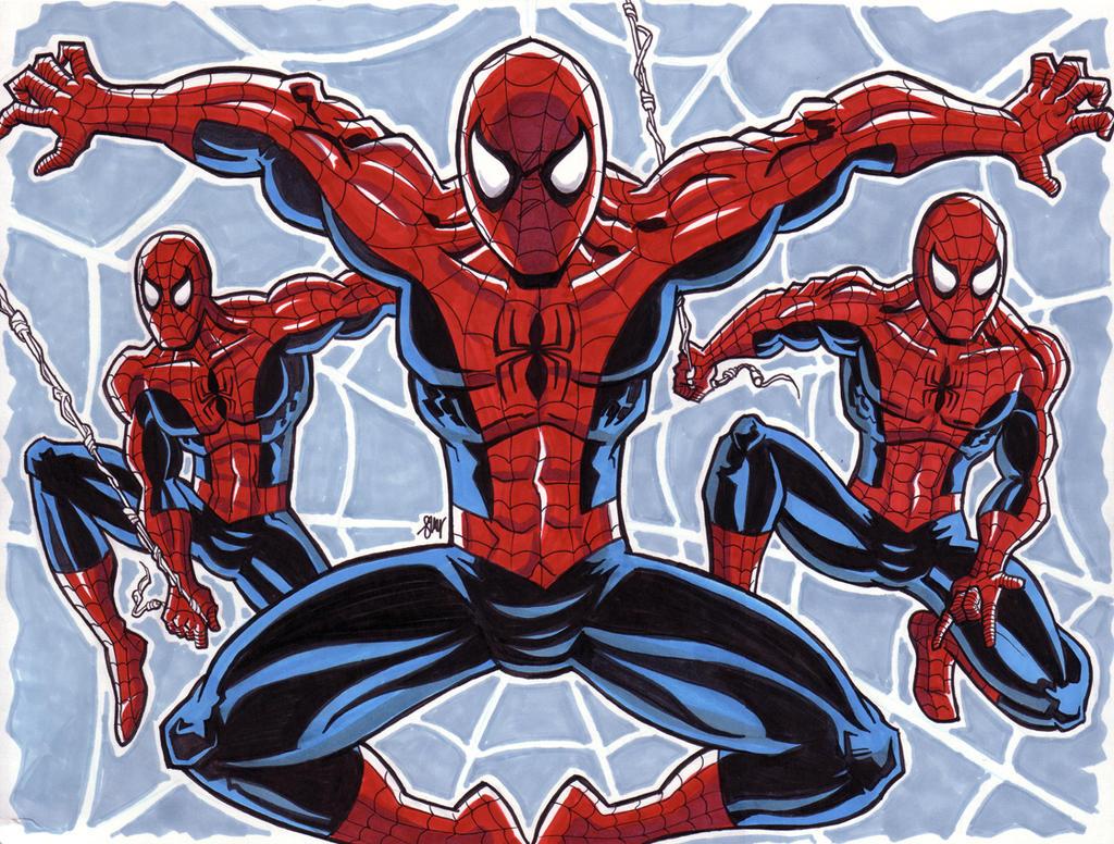 Spider-Man Triptych by calslayton