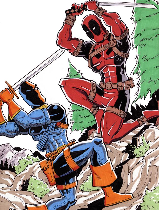 Deadpool Vs Deathstroke By Calslayton On DeviantArt