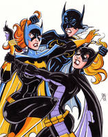 Bat Fight! by calslayton