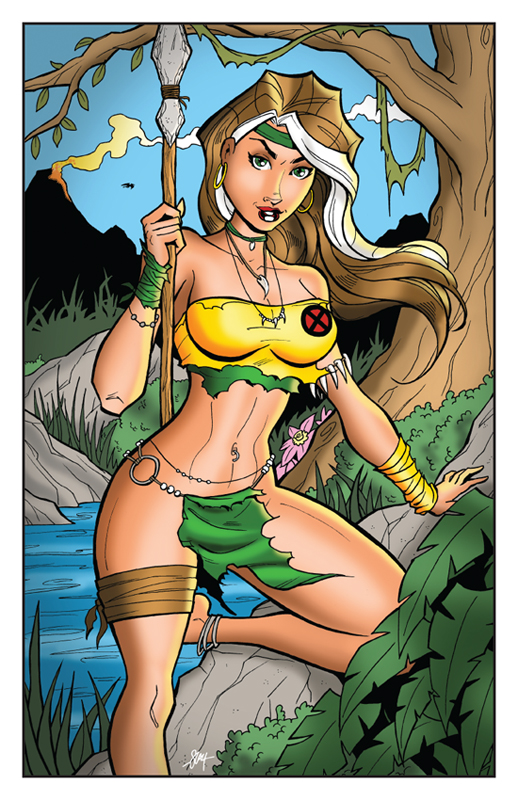 Savage Land Rogue Print by calslayton