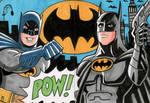 Batman Sketch Cards - Adam West and Michael Keaton
