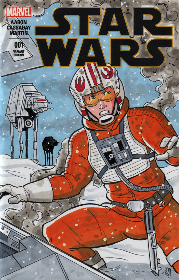 Luke Skywalker Sketch Cover by calslayton