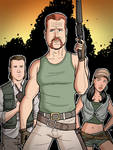 The Walking Dead - Eugene, Abraham and Rosita by calslayton