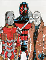 Deadshot, KGBeast and Hush by calslayton